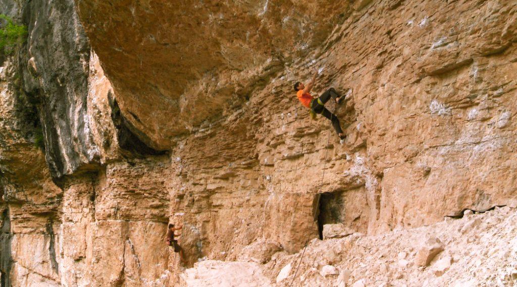 Palestra di roccia a Erto (PN)